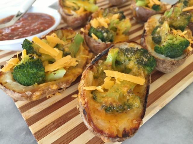 Broccoli Cheddar Baked Potato Skins - Recipe! - Live. Love ...