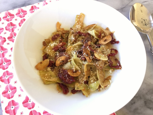 Broccoli Pappardelle with Sun Dried Tomatoes & Toasted Garlic – Recipe! Image 2