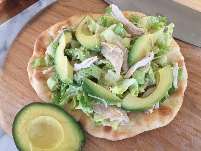 Chicken & Avocado Caesar Salad Flatbread – Recipe! Image 1