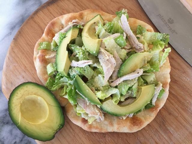 Chicken & Avocado Caesar Salad Flatbread – Recipe! Image 2
