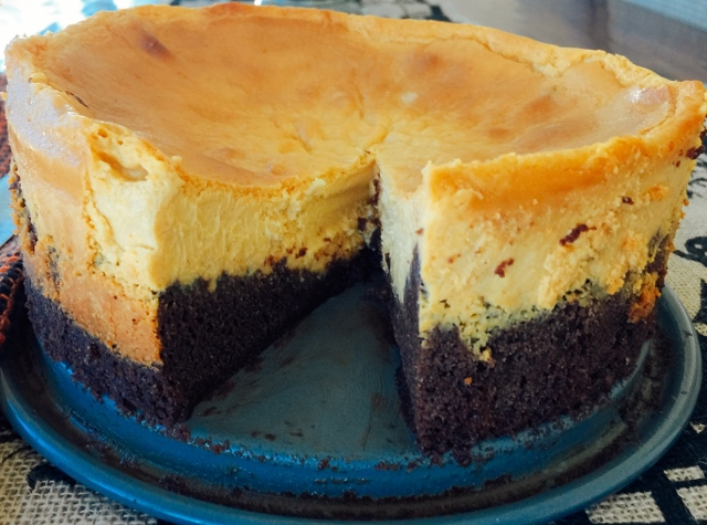 Pumpkin Cheesecake with Brownie Crust – Recipe! (Video Included) Image 1
