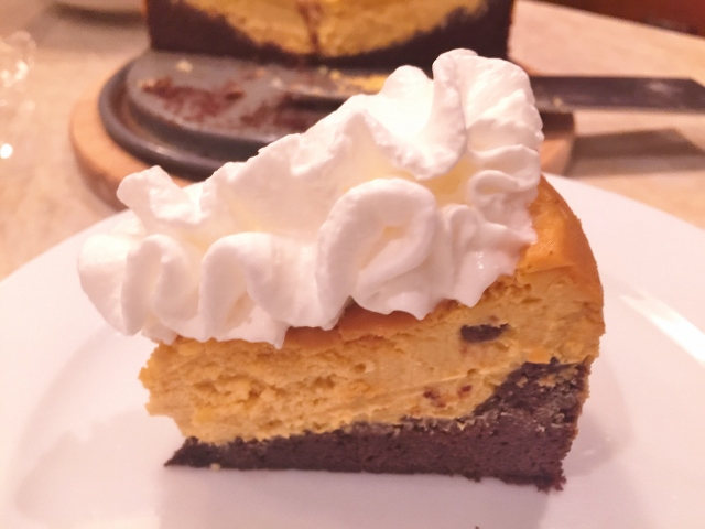 Pumpkin Cheesecake with Brownie Crust – Recipe! (Video Included) Image 2