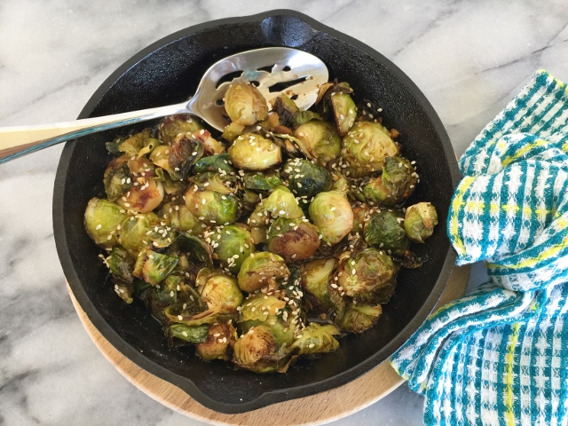 Roasted Brussels Sprouts in Chile Lime Sauce – Recipe! Image 2