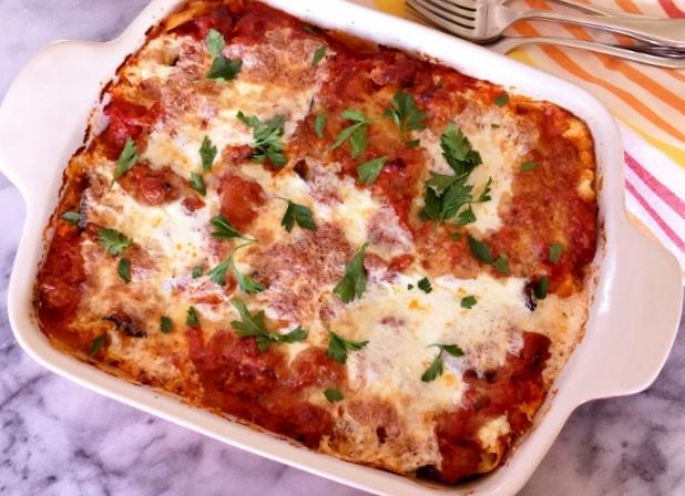 Roasted Eggplant & Sausage Lasagna – Recipe! Image 1