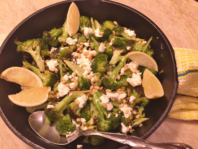 Charred Broccoli with Goat Cheese & Pine Nuts Image 2