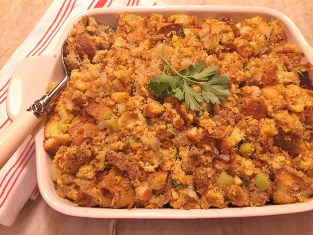 Cornbread, Turkey Sausage & Apple Dressing – Recipe! Image 1