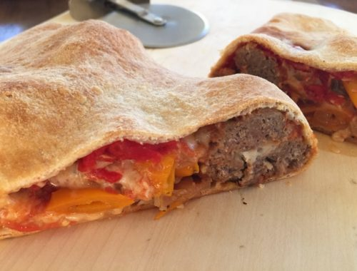 Meatball & Peppers Calzone – Recipe!