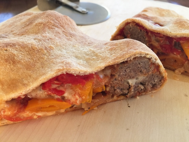 Meatball & Peppers Calzone – Recipe! Image 1