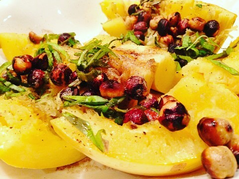 Spaghetti Squash with Brown Butter  Hazelnuts! Its the simplehellip