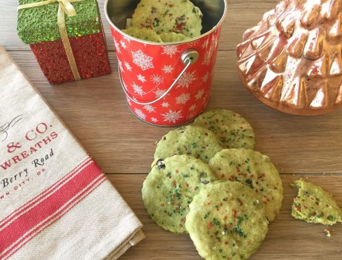 Marbled Matcha & Cranberry Shortbread Cookies – Recipe!