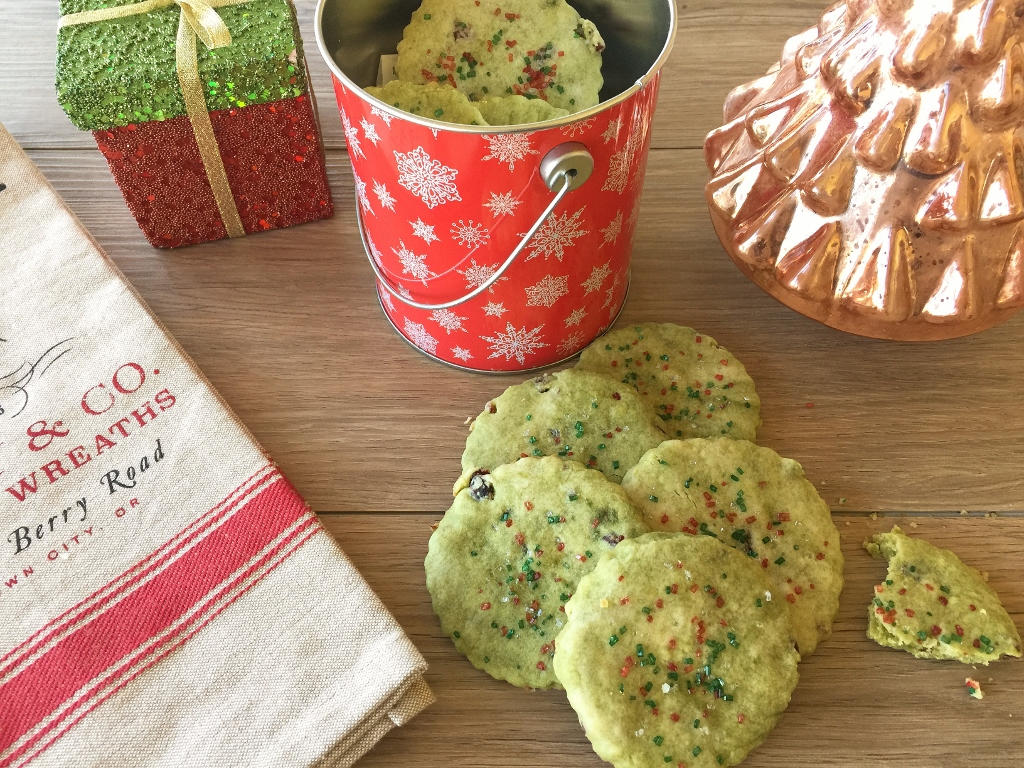 Marbled Matcha & Cranberry Shortbread Cookies – Recipe! Image 1