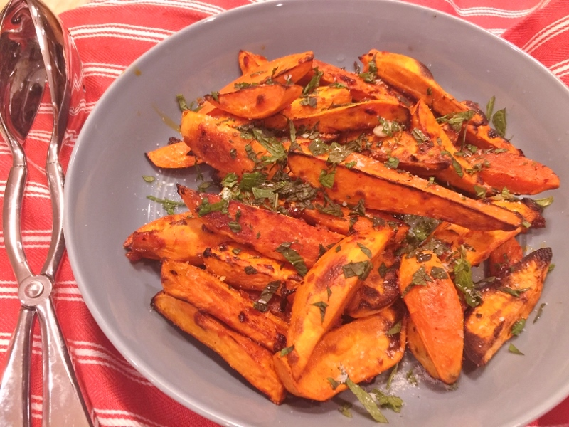 Roasted Harissa Sweet Potato Wedges – Recipe! Image 1