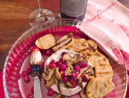 Warm Truffle Brie with Mushrooms & Cranberries – Recipe!