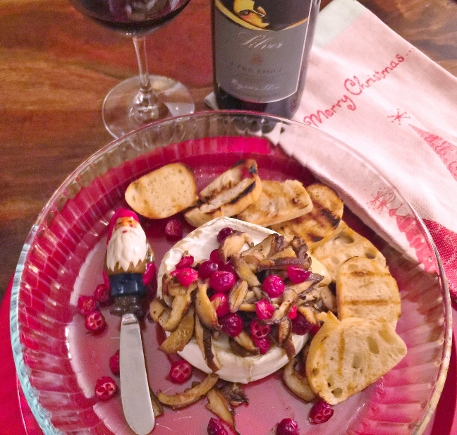 Warm Truffle Brie with Mushrooms & Cranberries – Recipe! Image 1
