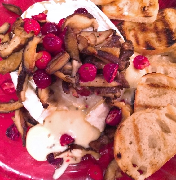 Warm Truffle Brie with Mushrooms & Cranberries – Recipe! Image 2
