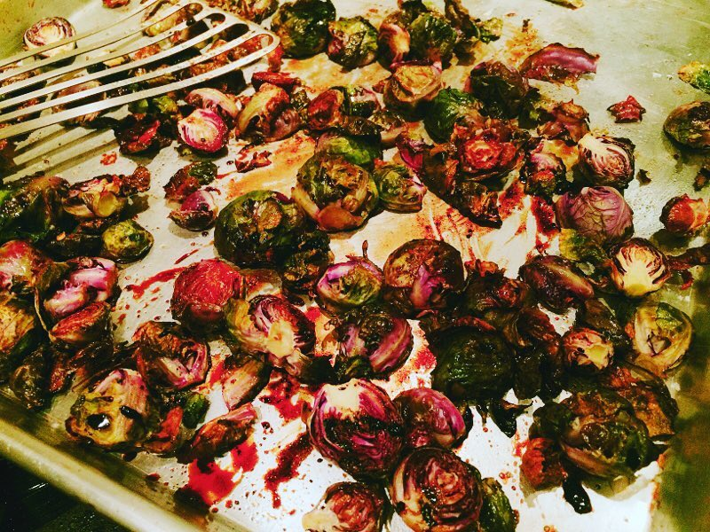 Roasted Balsamic Brussels Sprouts! Tangy Sweet and a Little Crispyhellip