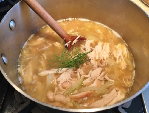 Chicken & Caramelized Fennel Soup!
