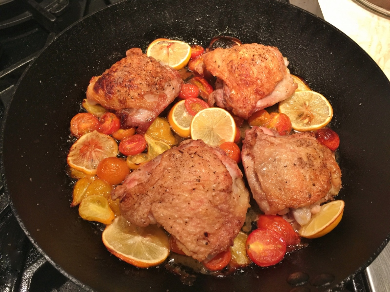 Skillet Chicken with Lemons, Spinach & Chickpeas – Recipe! Image 4