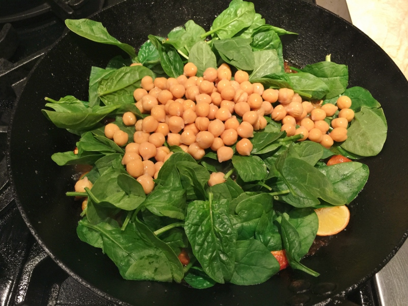 Skillet Chicken with Lemons, Spinach & Chickpeas – Recipe! Image 6