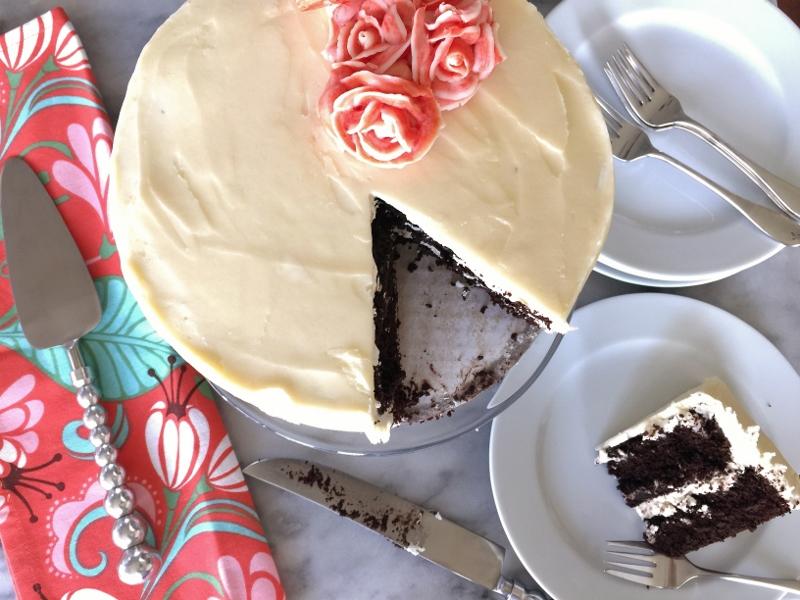 Chocolate Cake with Swiss Vanilla Buttercream – Recipe! Image 1