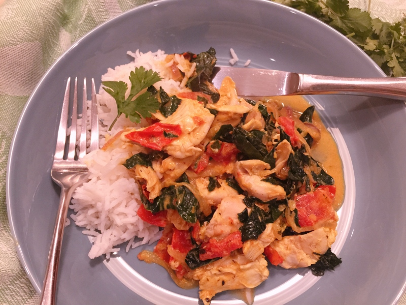Chicken & Kale Coconut Curry – Recipe! Image 2