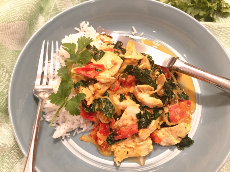 Chicken & Kale Coconut Curry – Recipe! Image 1