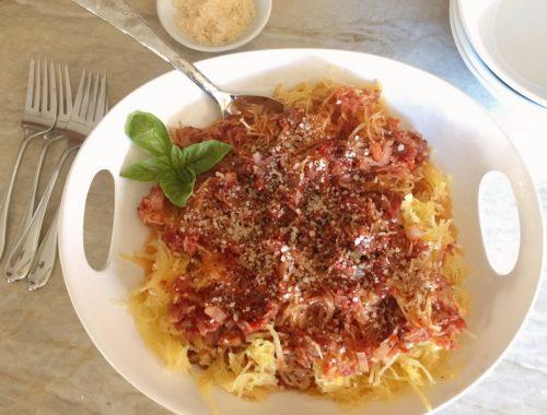 Spaghetti Squash Arrabbiata – Recipe!