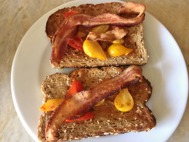Warm Cherry Tomato, Bacon & Egg Toasts – Recipe! Image 5