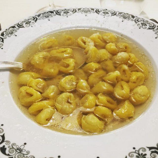 Tortellini in Brodo  Grassilli Ristorante Bologna! livelovelaughfood grassillibologna tortellinihellip