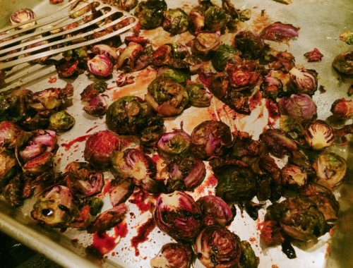 Roasted Balsamic Brussels Sprouts – Recipe!