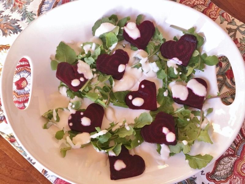 Roasted Beet Sweetheart Salad with Feta Cream – Recipe! Image 2