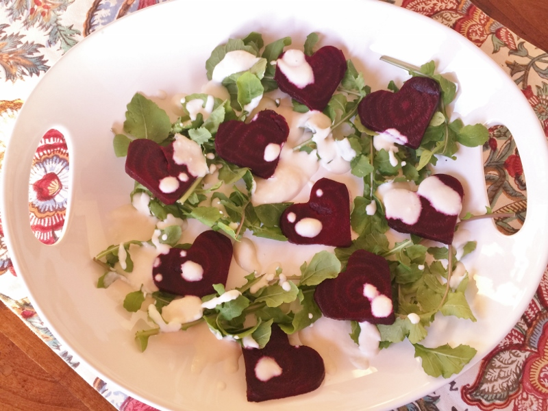 Roasted Beet Sweetheart Salad with Feta Cream – Recipe! Image 2