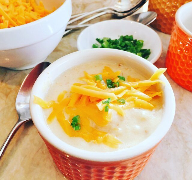 Potato Soup with Cheddar amp Chives! The simple things alwayshellip
