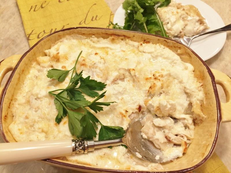 Broken Noodle Chicken Alfredo Hotdish – Recipe! Image 1