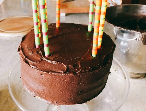 Chocolate Fudge Cake with Chocolate Buttermilk Frosting – Recipe!