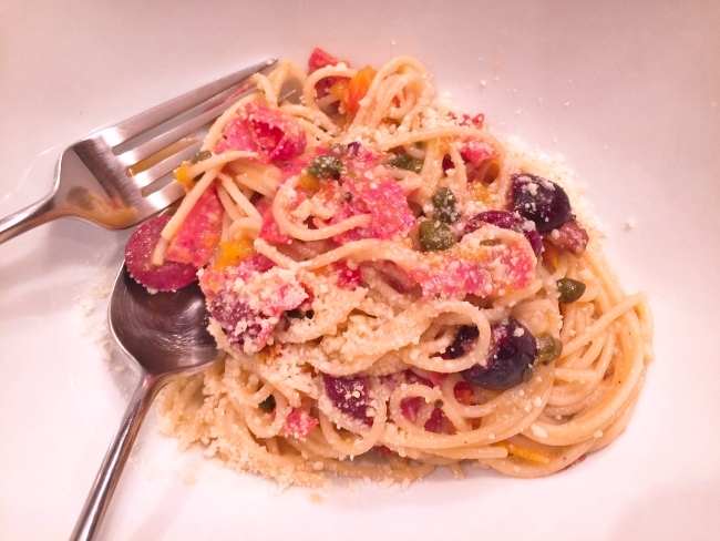 Pasta Puttanesca with Salami – Recipe! Image 1