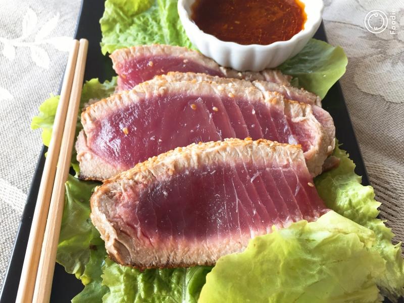 Sesame Tuna with Ginger Ponzu Sauce – Recipe! Image 2