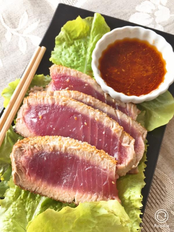 Sesame Tuna with Ginger Ponzu Sauce – Recipe! Image 1