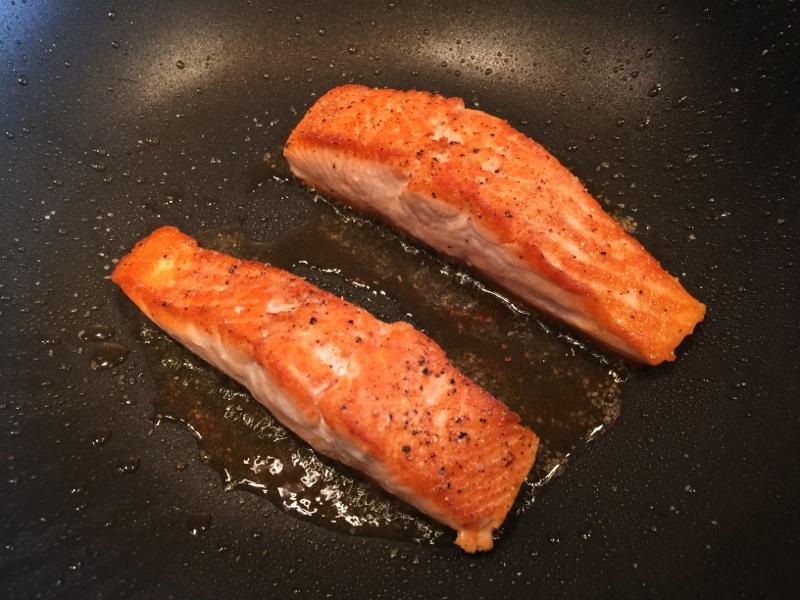 Wok Caramel Salmon with Bitter Greens – Recipe! Image 3