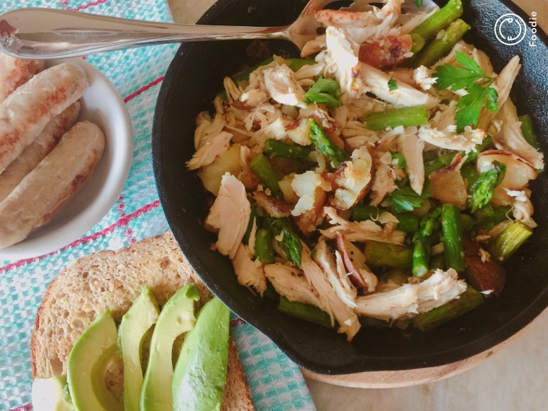 Chicken, Asparagus & Potato Hash – Recipe! Image 2