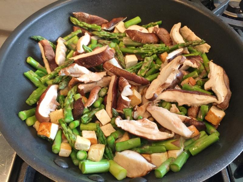 Crispy Tofu, Shiitakes & Asparagus Stir Fry – Recipe! Image 1