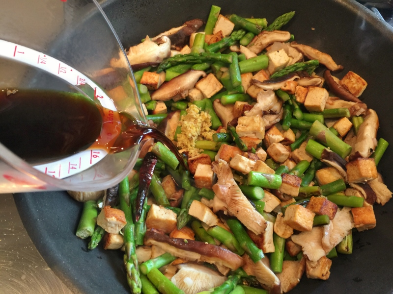 Crispy Tofu, Shiitakes & Asparagus Stir Fry – Recipe! Image 8