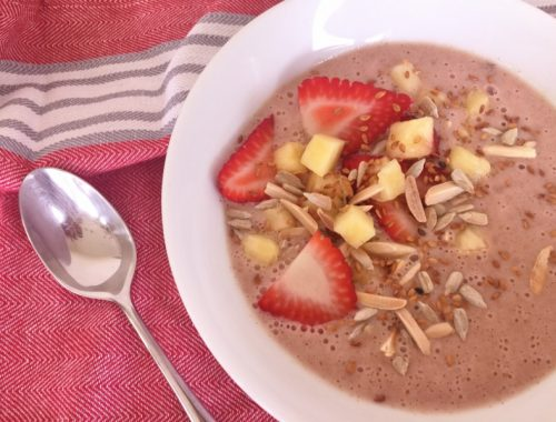 Pineapple-Strawberry Smoothie Bowls – Recipe!
