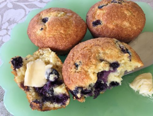 Sweet Corn & Blueberries Muffins – Recipe!