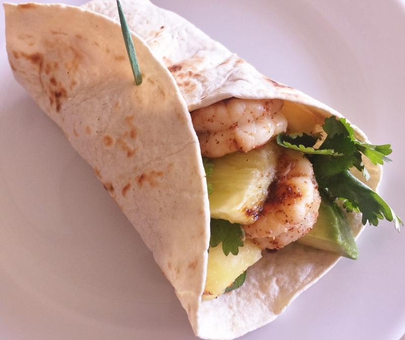 Grilled Shrimp & Pineapple Wrap – Recipe! Image 2