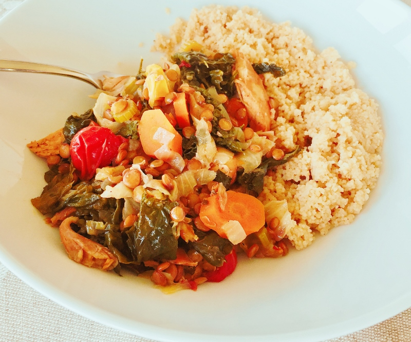 10-Minute Instant Pot Moroccan Chicken & Vegetables – Recipe! Image 2