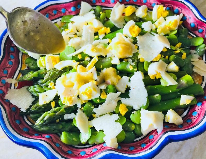 Asparagus, Fava Bean, Egg & Parmesan Salad – Recipe! Image 11