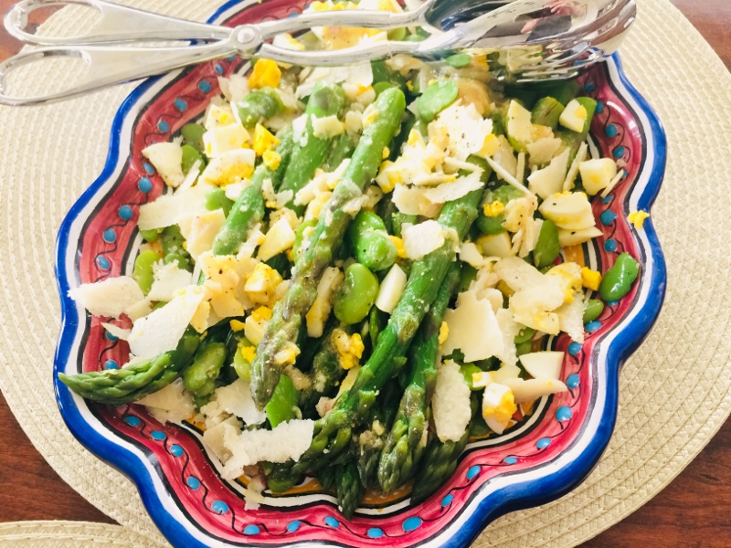 Asparagus, Fava Bean, Egg & Parmesan Salad – Recipe! Image 2