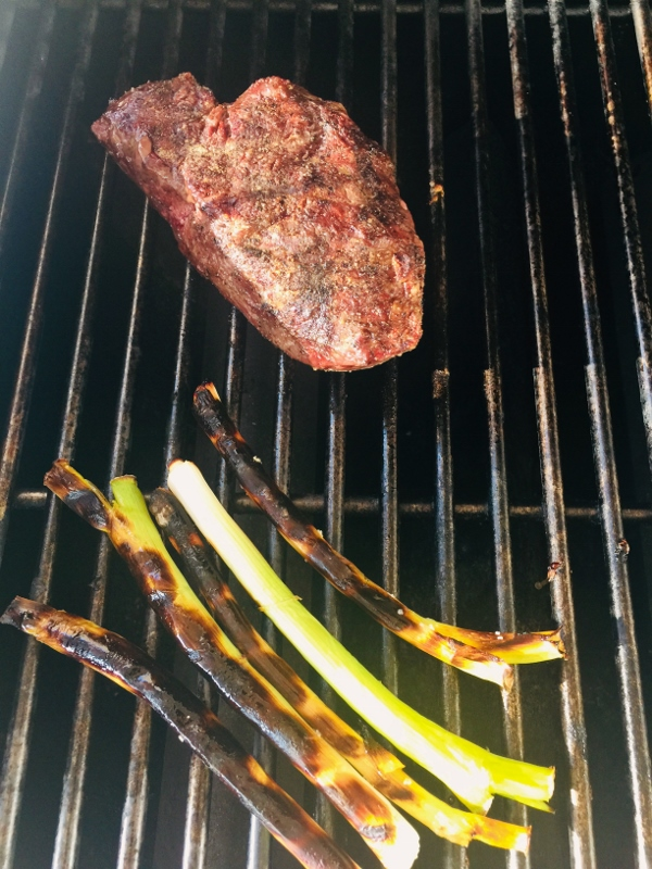 Grilled Fillet Mignon & Shrimp with Charred Scallion Butter – Recipe! Image 3