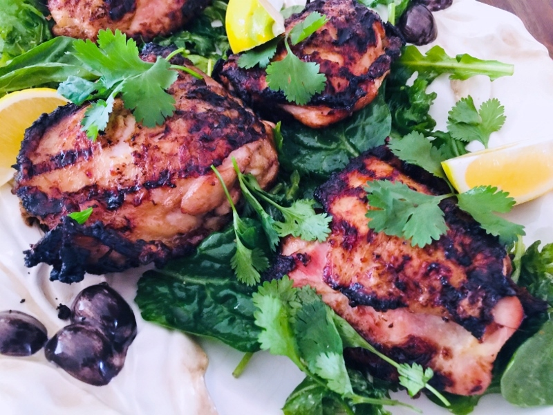 Grilled Thai Chicken Thighs with Greens – Recipe! Image 2